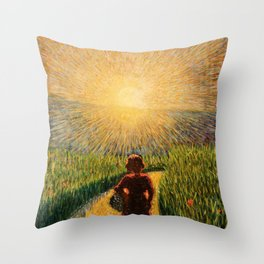 Sicilian sunset by Pippo Rizzo Throw Pillow