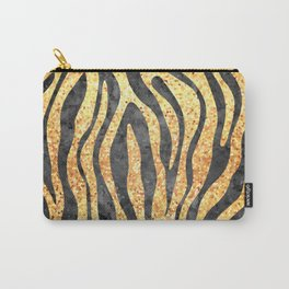 Gold Mosaic Stripes Carry-All Pouch