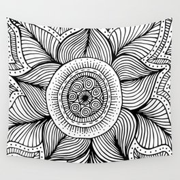Doodle Flower Wall Tapestry