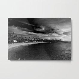 Hawaii - Island Life 1 - B&W  Metal Print