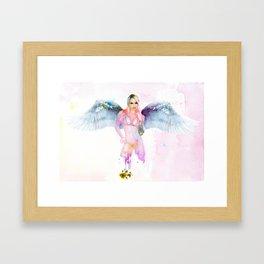 Badass Fitness Angel Framed Art Print