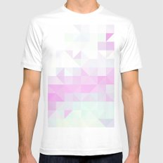 Pink Triangle Mens Fitted Tee White MEDIUM