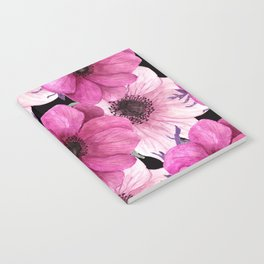 Elegant Floral Pageantry in Pretty Pink Pattern Notebook
