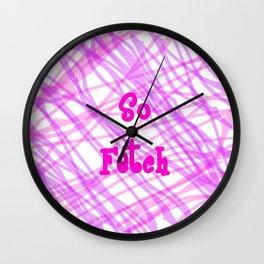 So Fetch Splatter Wall Clock