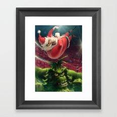 Santa Win Framed Art Print