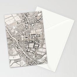 Vintage Map of Cambridge England (1690) Stationery Cards