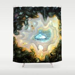 Geode Fairyland - Inverted Art Series Shower Curtain