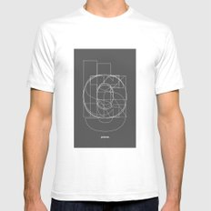 Die Neue Haas Grotesk (D) SMALL Mens Fitted Tee White