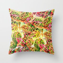 Leaves in the Autumn Rainbow Throw Pillow