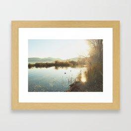 Autumn Lake Tranquility Framed Art Print