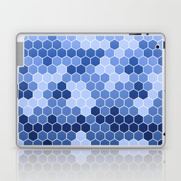 Honeycomb Blue Pattern | Geometric Shapes | Home Decor | Sapphire | For Him | For Her Laptop & iPad Skin