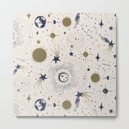 Solar System - Ether Metal Print