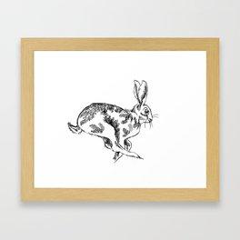 Running Hare Framed Art Print