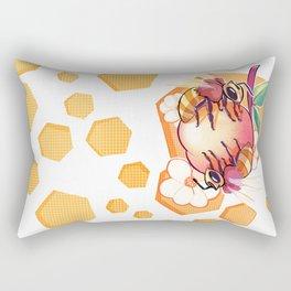 Bees & Apricot Rectangular Pillow