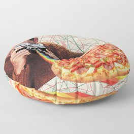 pizza obsession Floor Pillow