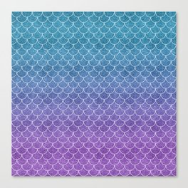 Mermaid Scales in Cotton Candy Canvas Print