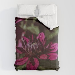 Dahlia 2 - Abstraction Comforters
