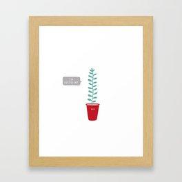 I'm succulent Framed Art Print