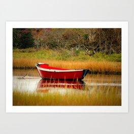 Red Boat Art Print