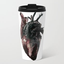 Anatomical Heart - inspired by 5 Seconds of Summer's Jet Black Heart Travel Mug