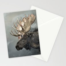 Eerik the Sami Shaman and Hirvi the Moose Stationery Cards
