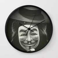 anonymous Wall Clocks featuring Anonymous II by Dr. Lukas Brezak