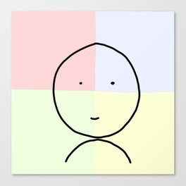 Red Blue Green and Yellow Smiley :) Canvas Print