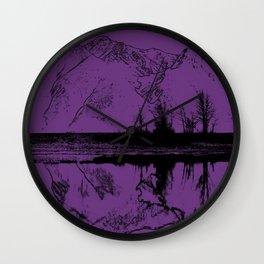 Knik River Mts. Pop Art - 2 Wall Clock