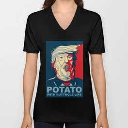 """""""Potato with Butthole Lips"""" Unisex V-Neck"""