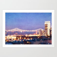 BAY BRIDGE GLOW - San Francisco Art Print