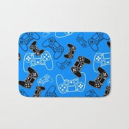 Video Games Blue Bath Mat