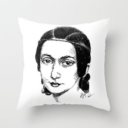 Clara Schumann Throw Pillow