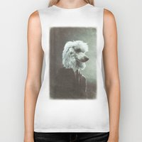 poodle Biker Tanks featuring Poodle by womoomow