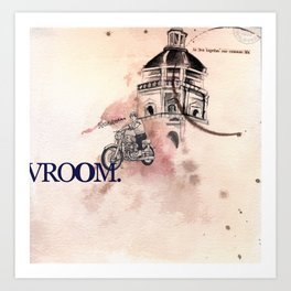 Vroom Art Print