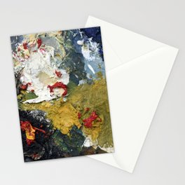 Oil Paint Texture Stationery Cards