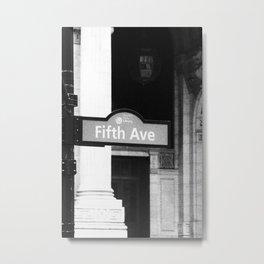 5TH Avenue (Black & White) Metal Print