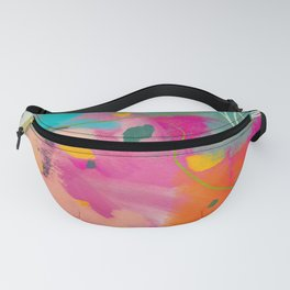 mixed abstract brush color study art 1 Fanny Pack