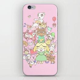 Animal Crossing (pink) iPhone Skin