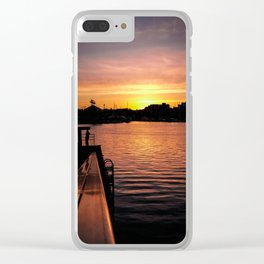 Golden Hour Clear iPhone Case