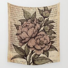 Peonies  - Color Wall Tapestry