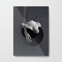 Minimal collage/Nude Metal Print