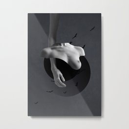 Minimal collage/Nude Metal Print
