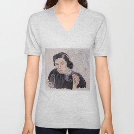 Elon Musk Podcast Unisex V-Neck
