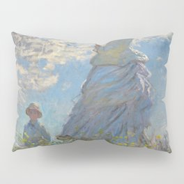 Woman with a Parasol, Monet Pillow Sham
