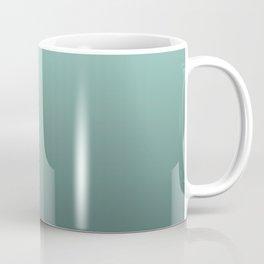 Grey, turquoise Ombre. Coffee Mug