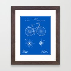 Bicycle Patent - Blueprint Framed Art Print