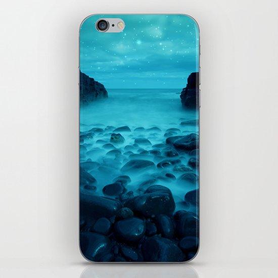 Blue Rocks Ocean and Stars iPhone & iPod Skin