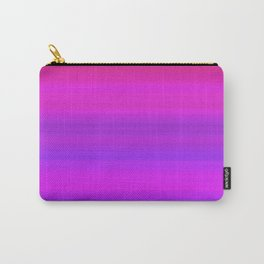 Pink & Blue I Gradient Stripes Carry-All Pouch
