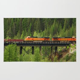BNSF Going Over Goat Lick Creek Rug