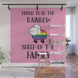 Proud To Be The Rainbow Sheep Of The Family Quote Wall Mural
